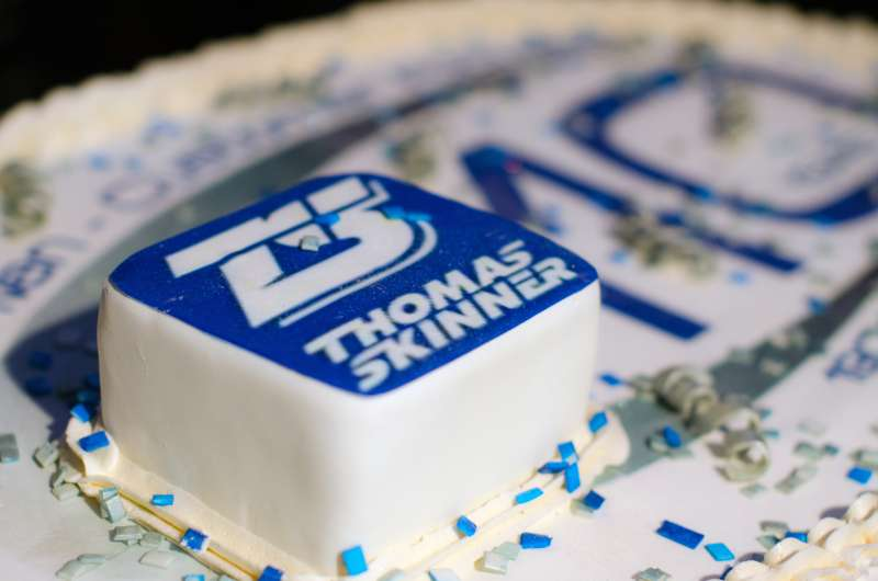 Thomas Skinner celebrates 110th anniversary