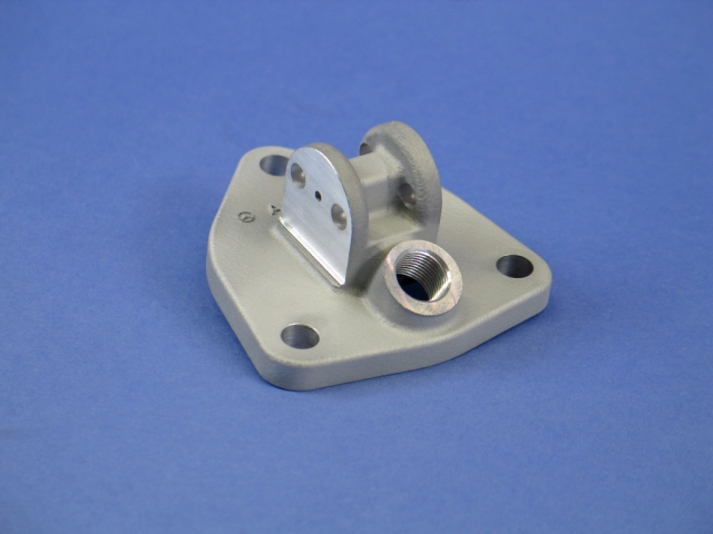 This bracket for a truck diesel engine is already in production on the new AM line.