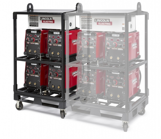 Lincoln Electric's 4-Pack Rack for multi-purpose welders boosts safety, streamlines setup