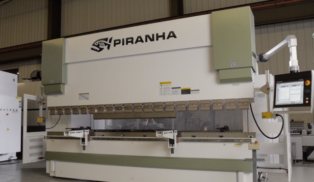 Piranha launches new press brakes with hydraulic crowning system
