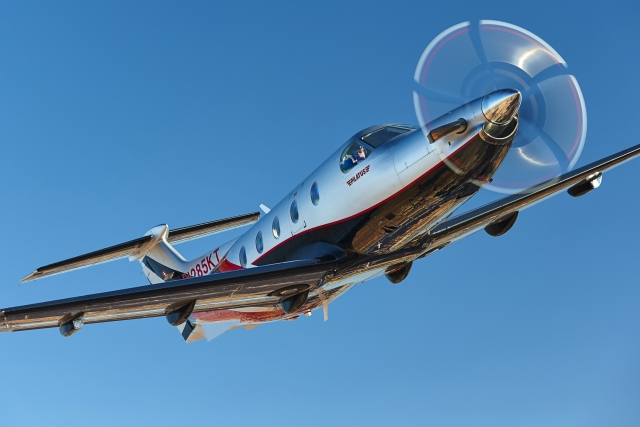 The Pilatus Turboprop multi-role aircraft PC12 built using Haimer toolholders