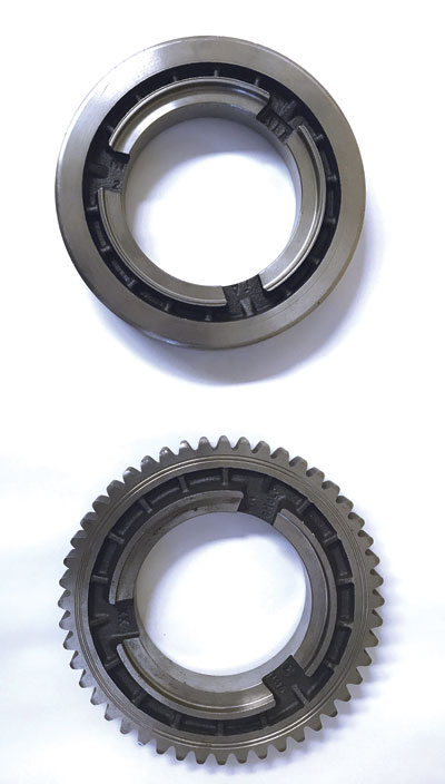 Cutting external splines on a sprocket is just one of the many applications for which broaching is used.