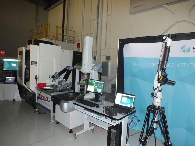 Some of the technology on display at DMG MORI's Technology Day, including a live demo of the Milltap with automation from Advanced Motion Controls and metrology automation from Hexagon Manufacturing