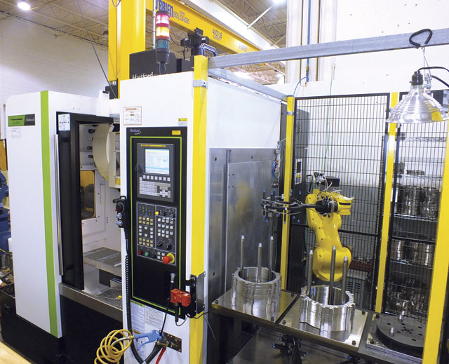 Together with Hartford distributor Ferro Technique, FANUC systems Integrator Kraaft Technologies Corp. completed the robotic integration and other aspects of POSS Design's automated cell.