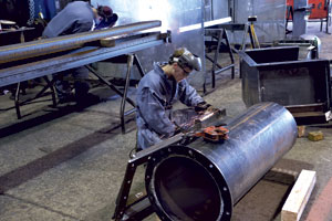 IWL's flexible shop offers several metal fabricating services including plasma and oxyfuel beam cutting and welding.