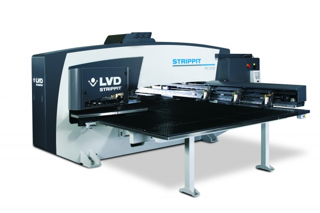 LVD Strippit PX-1530 punch press can punch, form, bend and tap