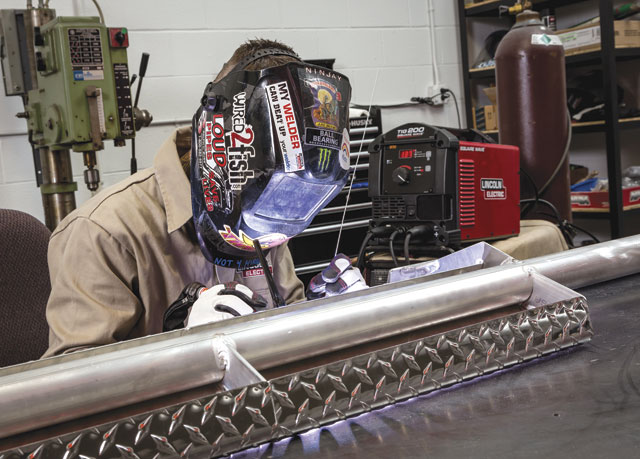 TIG welding power sources allow the operator to adjust the parameters of the pulse to match the material more precisely and reduce distortion in the base material.  IMAGE: Lincoln Electric