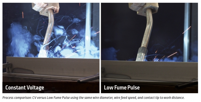 Lincoln Electric Low Fume Pulse Comparison