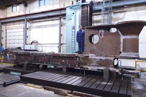 Universe Machine boasts a number of large machine tools, including what Feigel Sr. says is the largest Mitsubishi horizontal CNC boring mill in Western Canada.