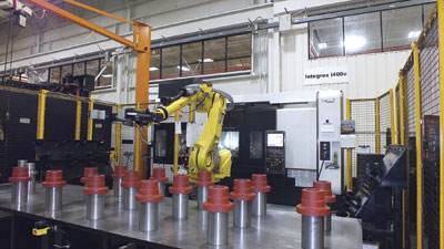 Automation at Mazak's Kentucky plant. Mazak Canada's Ray Buxton says automation works in low volume shops and provides them with flexibility and better cost control.