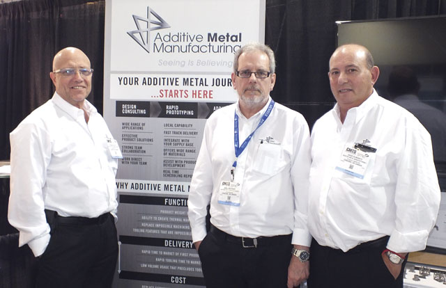 Founders of Additive Metal Manufacturing from left: Norman Holesh, Nigel Southway and David Slimowitz. Their vision is to make advanced additive manufacturing technologies accessible to Canadian manufacturers and help strengthen the Canadian manufacturing industry.