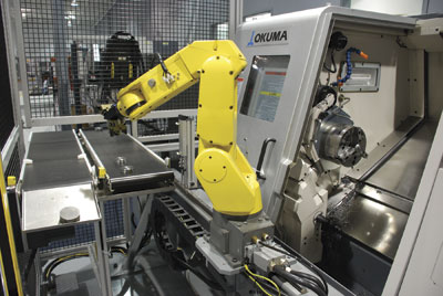Robots make a good machine tool even better, greatly expanding both capability and throughput. Image: Okuma America