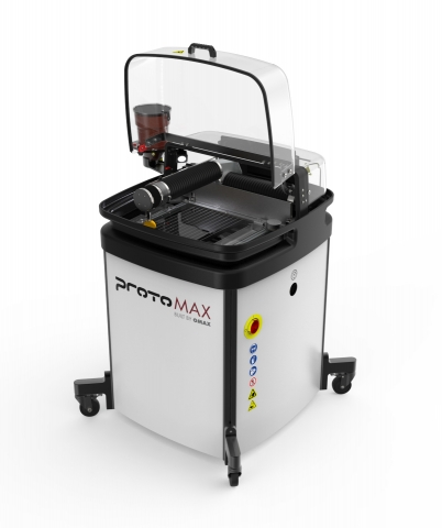 OMAX ProtoMAX with lid open