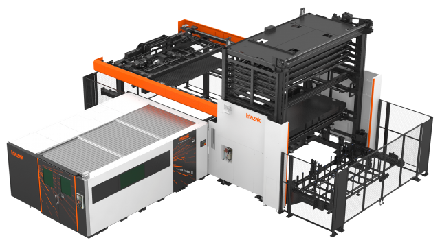 Mazak Optonic's Quick Cell 3015 compact, high speed automation solution