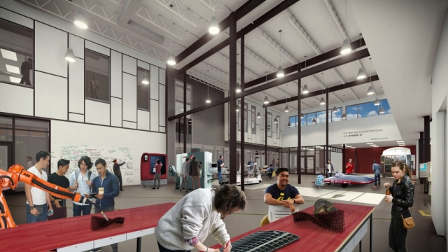 Red River College Smart Factory rendering