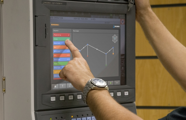 Renishaw apps on an Okuma control