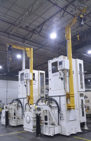 Electric drive broaching machines consume less floor space, up to 1,829 mm (72 in.) of stroke, and are effective in cellular manufacturing scenarios.