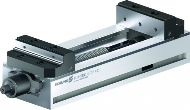 Schunk's clamping vise for raw and finished part machining