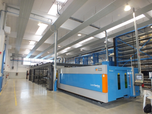 CECOMP's fiber laser system and Night Train in the background