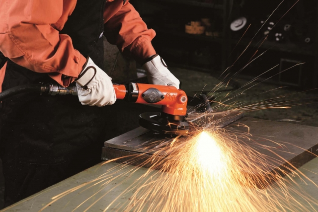 Fugi Air Tools' FA 70 angle grinder has a new and improved blade material with higher wear resistance