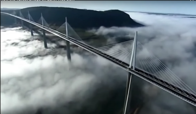 The Millau Viaduct in southern France is considered the tallest bridge in the world