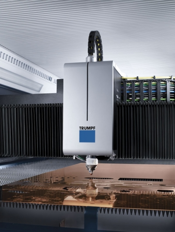 Laser cutting systems like this TRUMPF machine are typically more expensive than waterjet or plasma machines, but in medium to high volume shops, you can achieve a faster ROI, say suppliers.