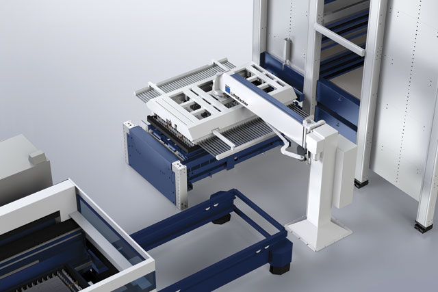 TRUMPF's LiftMaster Sort enables fabricators to separate large parts from the scrap skeleton.