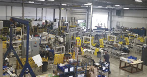 With more than 2,200 sq m (24,000 sq ft) of production space and 35 employees, Addition Manufacturing Technologies is the largest producer of muffler assembly machinery in North America.