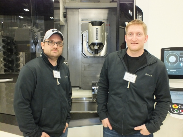 David Carapina and Tony Tomac, programmers/machinists with Pano Cap Canada