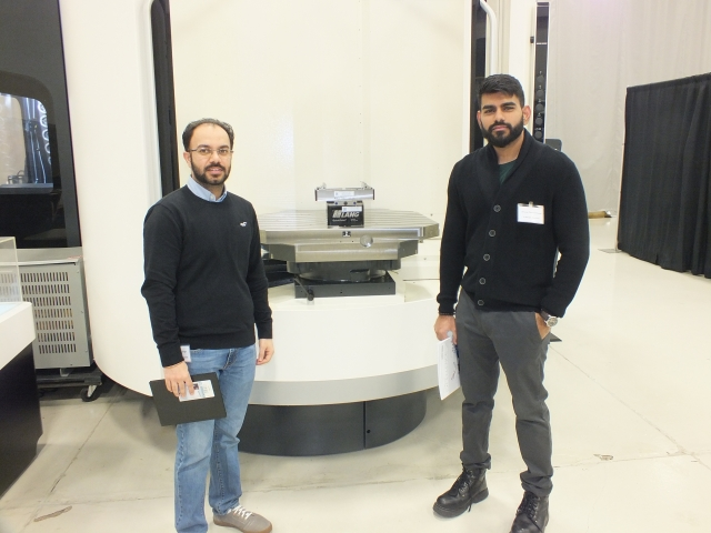 Premdeep Singh and Anand Chakkummood of A. Berger Precision