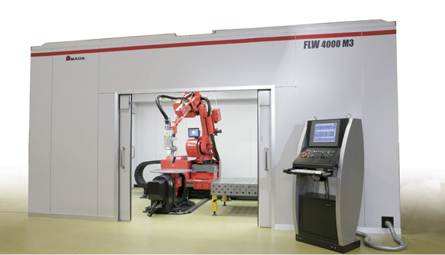 Manufacturers are moving more towards robotic welding processes because of the efficiencies the technology can provide. Image: Amada