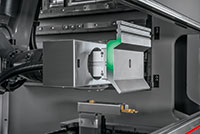 Bystronic's Xpert Tool Changer uses an integrated vision system to scan tool lengths and profiles when placing them into the machine. Bystronic