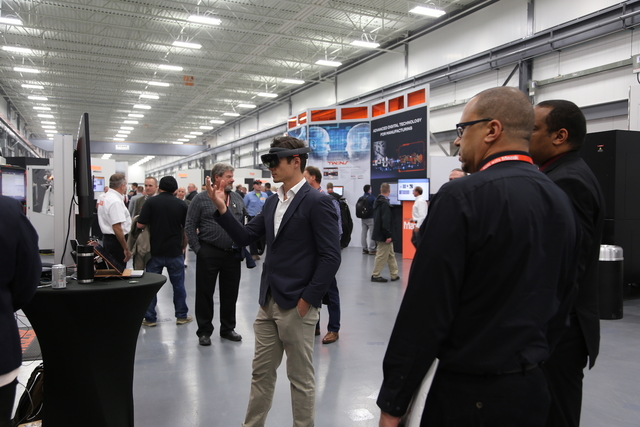 The Mazak Discover Manufacturing event featured the debut of a new mixed reality training and service support system