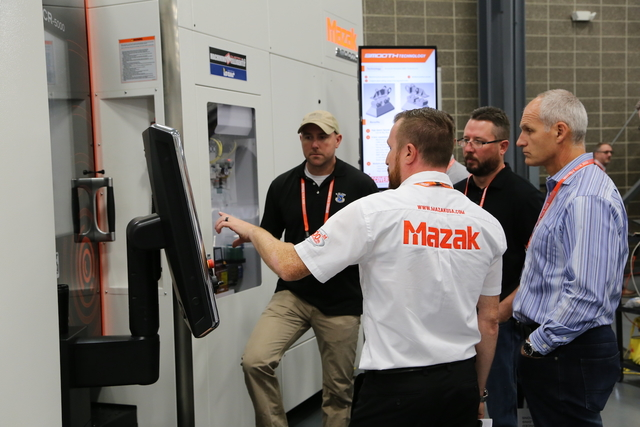 The Mazak Discover events are popular with manufacturer because of the hands-on learning on the latest in machining technologies
