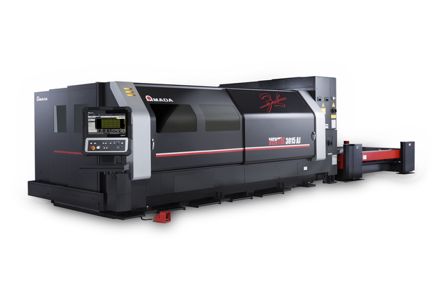 Amada's new fiber laser cutting machine equipped with Locus Beam Control (LBC) technology