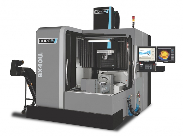 Hurco's BX40Ui, a new double column bridge design five axis machine