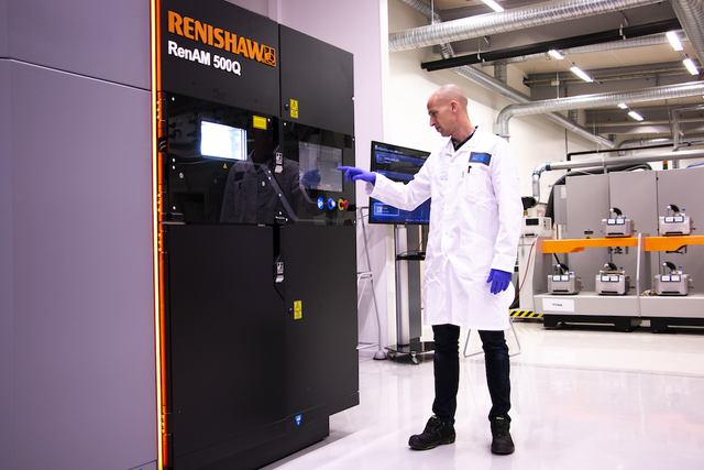 Renishaw RenAM 500Q Sandvik Additive Manufacturing Center Sandvken