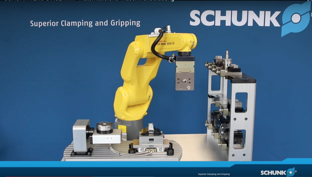 Automated loading and unloading with Schunk's quick-change pallet system