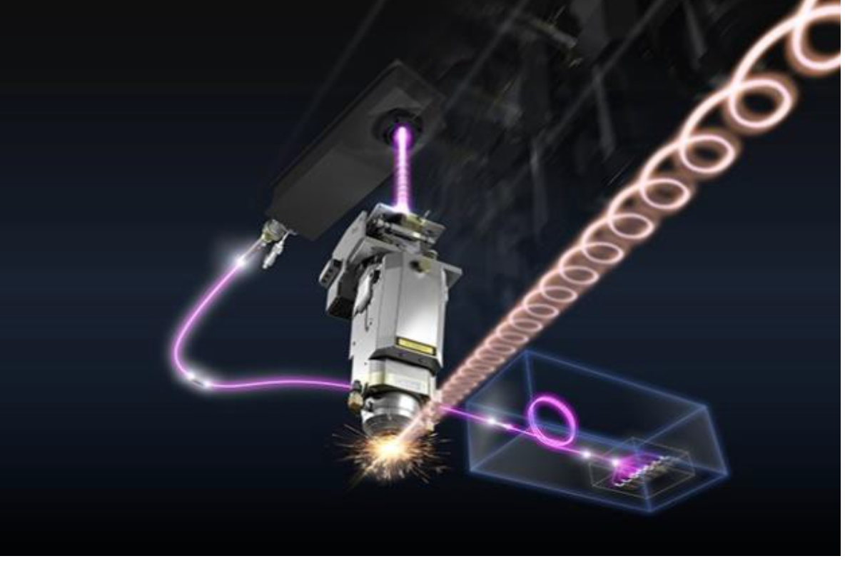 Oscillation image of Amada's LBC technology-based laser beam