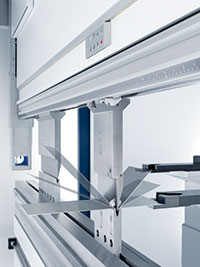 TRUMPF's angle controlled bending (ACB) tools are equipped with a pair of sensors inside the punch to measure the bend. TRUMPF