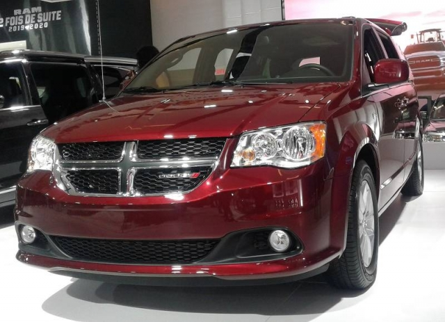 The 2020 Dodge Grand Caravan, seen here on display at the 2020 Montréal International Auto Show.
