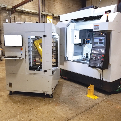 With adjustable shelves and the ability to support multiple operations on eight different workpieces at once, the VBX-160 is an ideal way to automate CNC machining centres. AWR