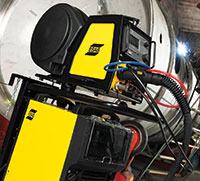 ESAB's Aristo MIG 4004i Pulse power source provides improved arc welding performance and increased power efficiency of 89.5 per cent.