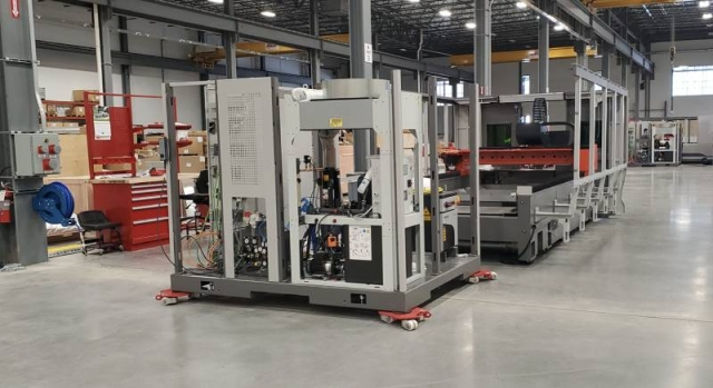Bystronic has produced its first machine at its new Hoffman Estates facility in Illinois.