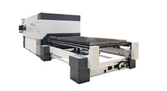 LVD Strippit's Phoenix fiber laser cutting system processes ferrous and non-ferrous materials in a range of thicknesses without manual intervention.