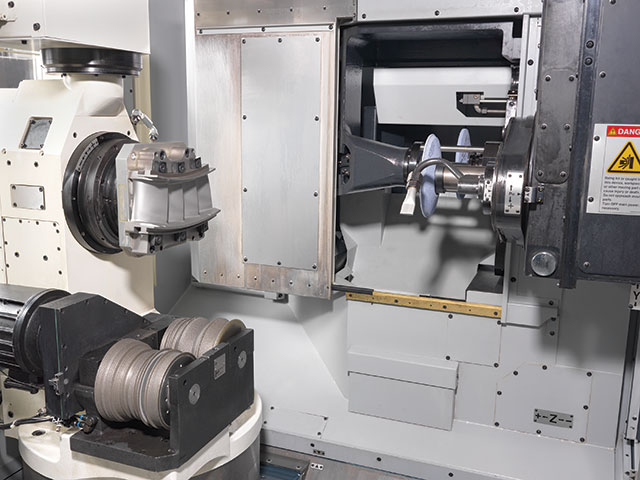 The beauty of using a horizontal machining centre for grinding operations in part comes from its tool changer, which eliminates the need for the wheel packs used with traditional CNC grinders. Makino