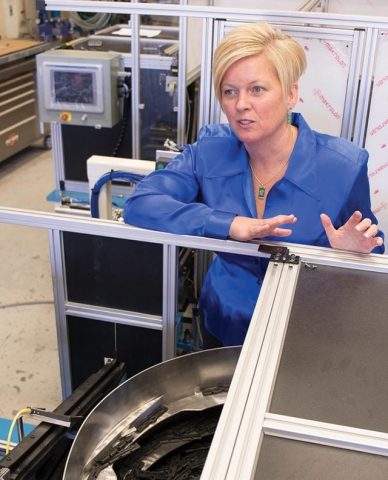 Rhonda Barnet, chair of Canadian Manufacturing  and Exporters' national board,  is also president and COO  of Peterborough, Ont.-based  AVIT Manufacturing, which designs and builds  custom automation  for manufacturers.