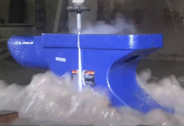 cutting anvil waterjet