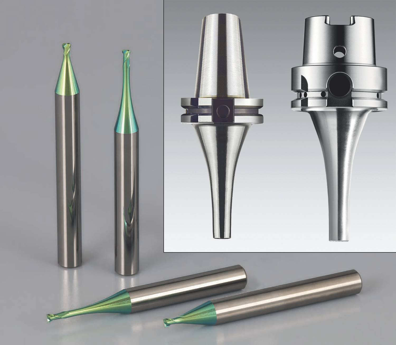 Emuge's new end mills are available in solid carbide and CBN