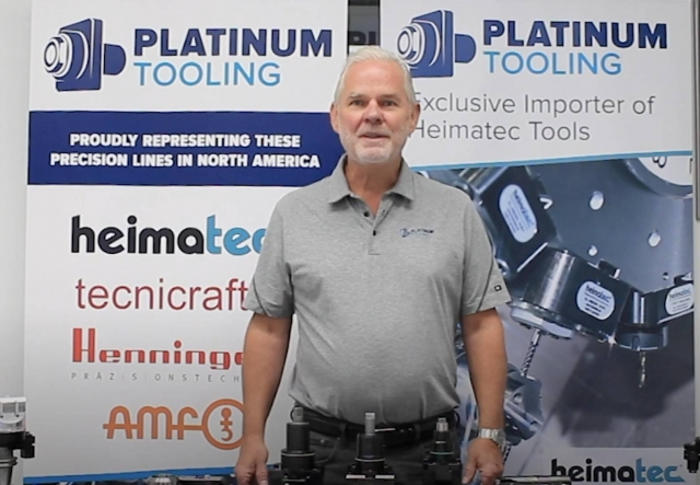 Platinum Tooling president Preben Hansen presents his company's IMTS lineup on video